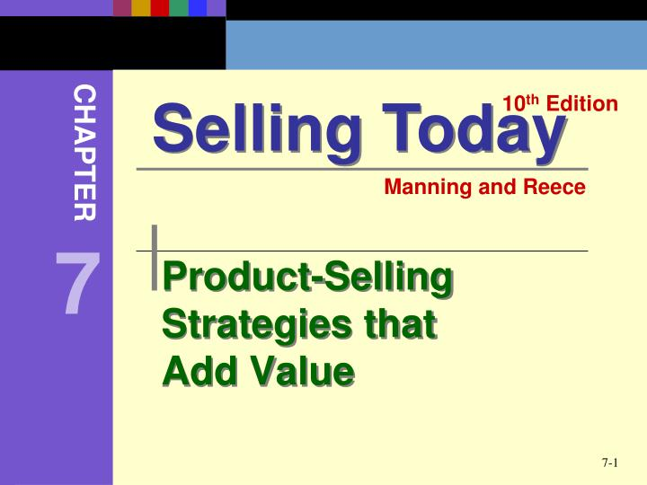 product selling strategies that add value n.