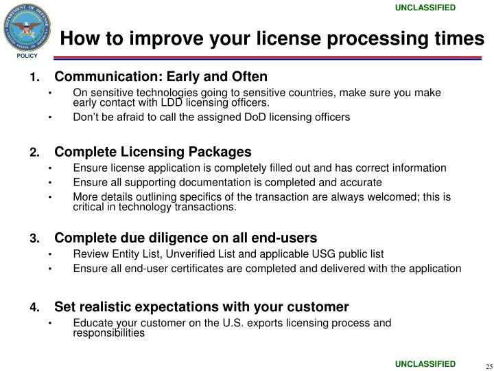 How to improve your license processing times
