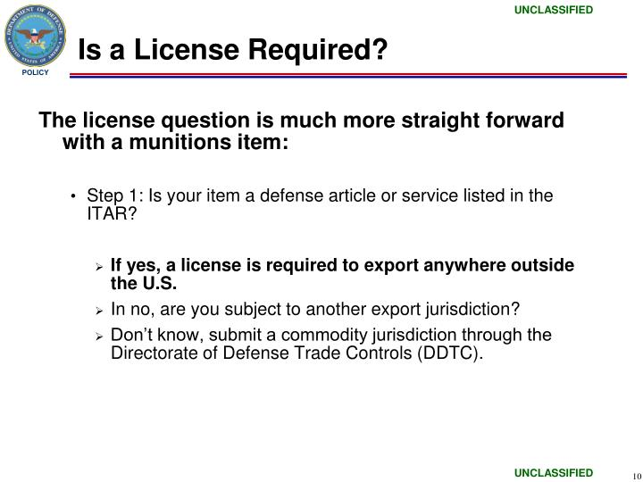Is a License Required?