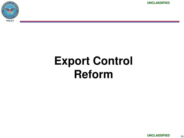 Export Control