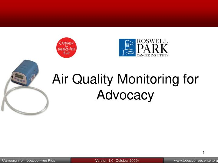 air quality monitoring for advocacy n.