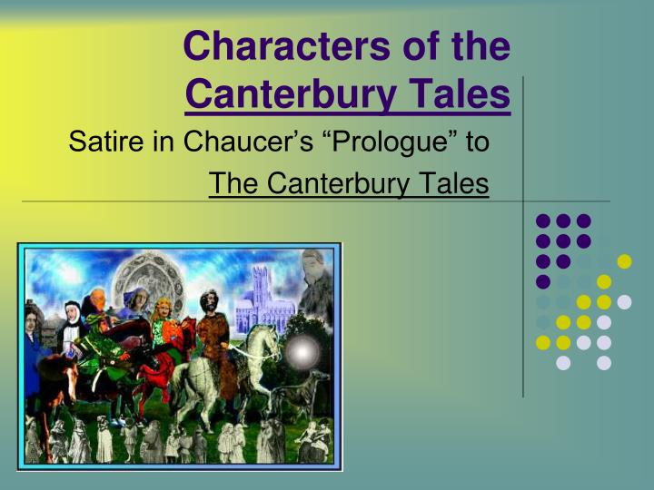 characters of the canterbury tales n.