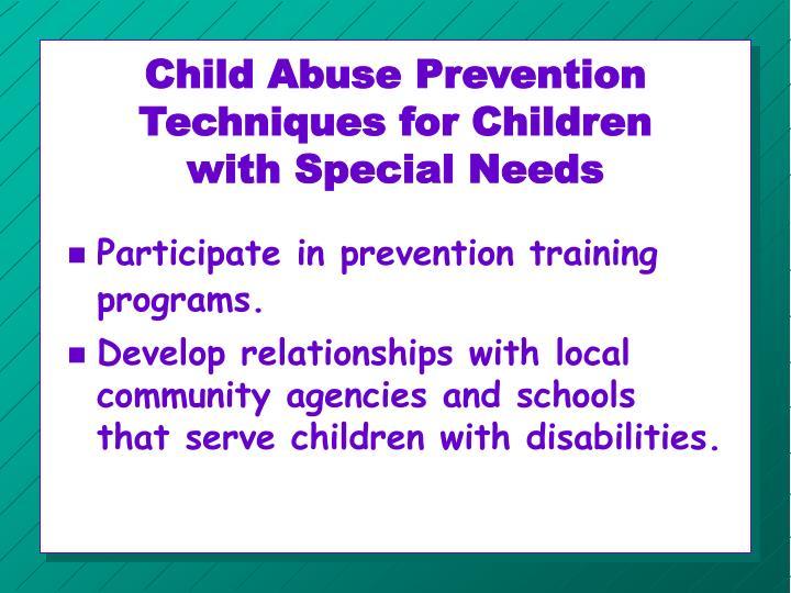 Child Abuse Prevention Techniques for Children