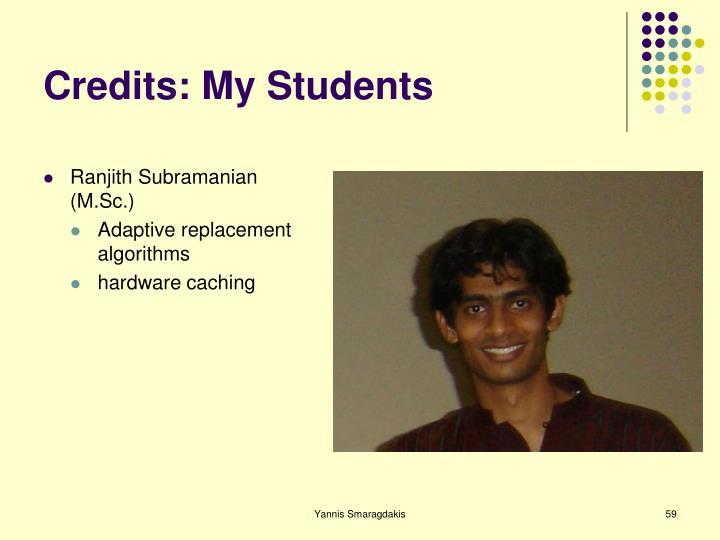 Credits: My Students
