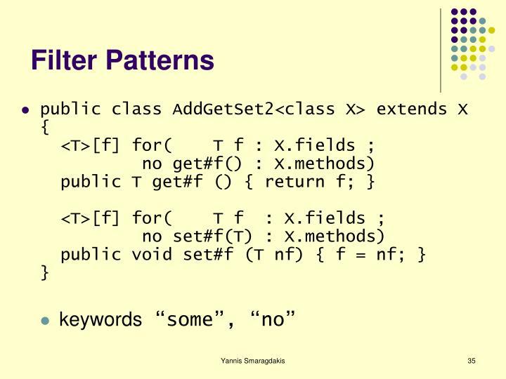 Filter Patterns