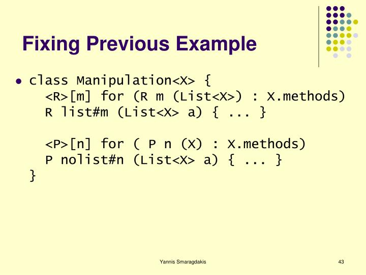 Fixing Previous Example