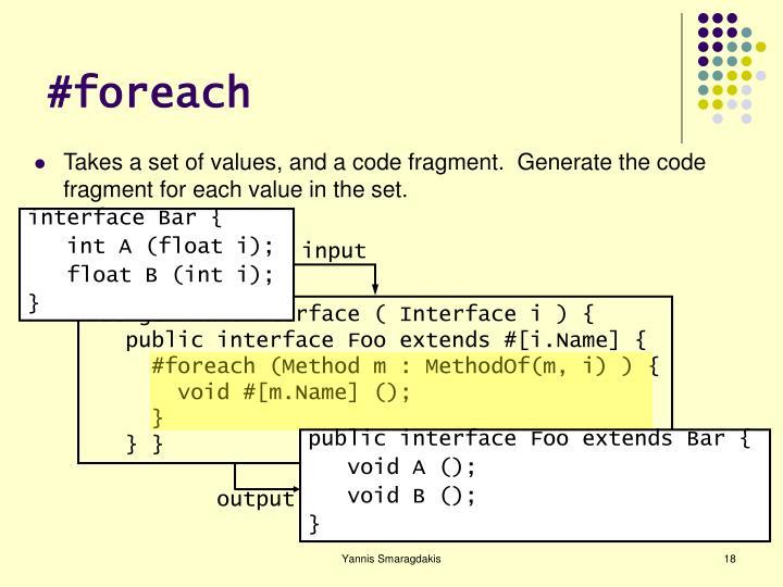 #foreach