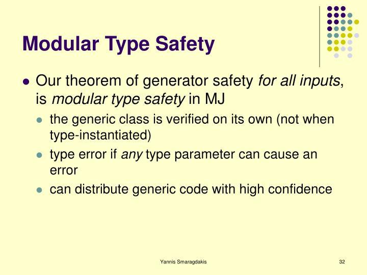 Modular Type Safety