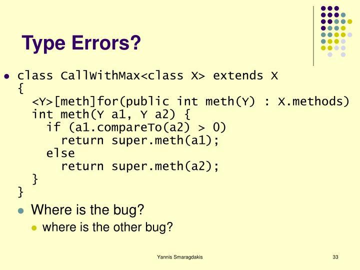 Type Errors?