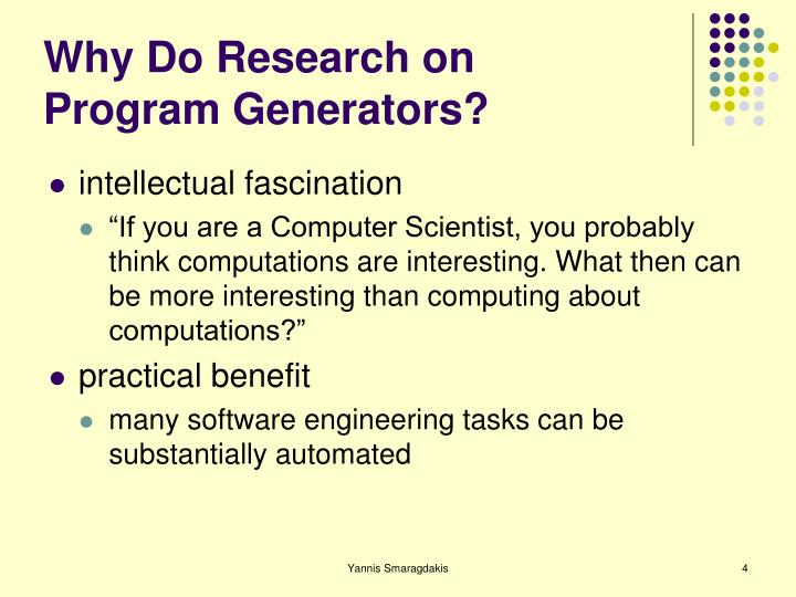 Why Do Research on