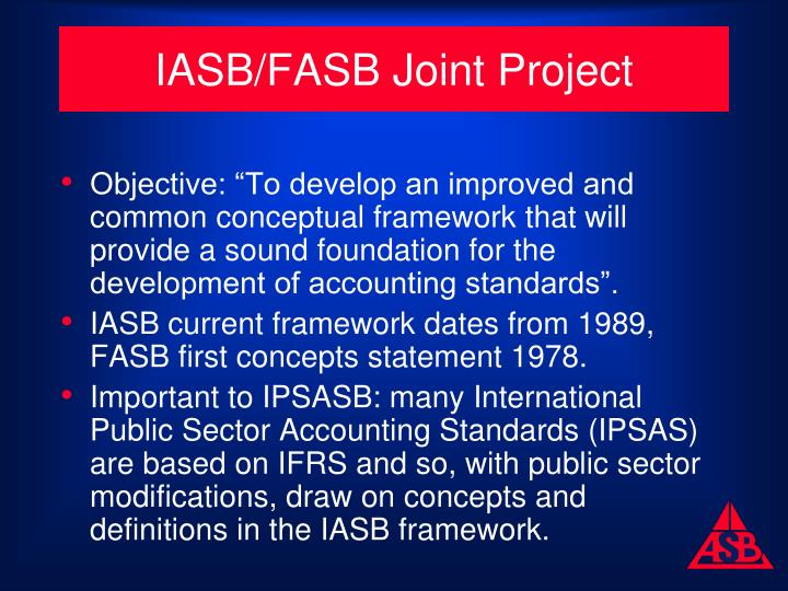 IASB/FASB Joint Project
