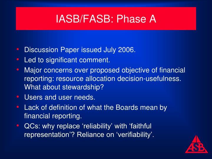 IASB/FASB: Phase A