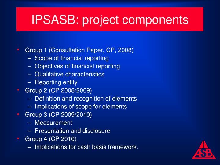 IPSASB: project components