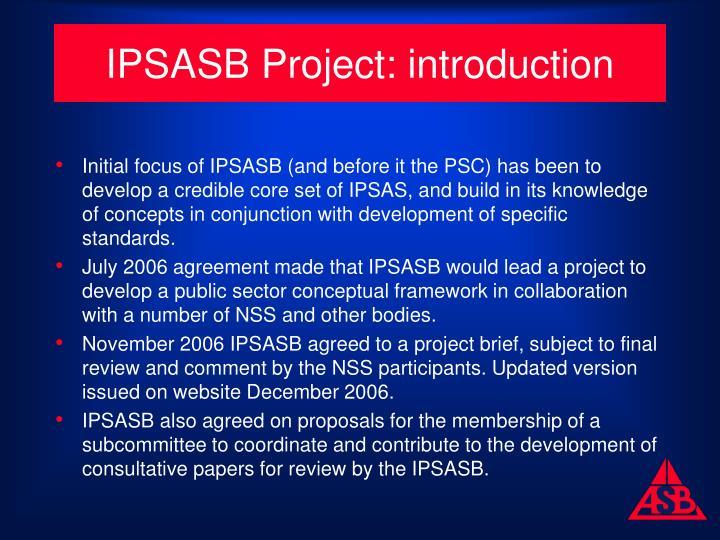 IPSASB Project: introduction