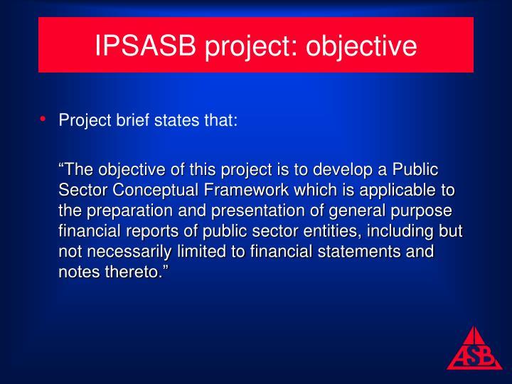 IPSASB project: objective