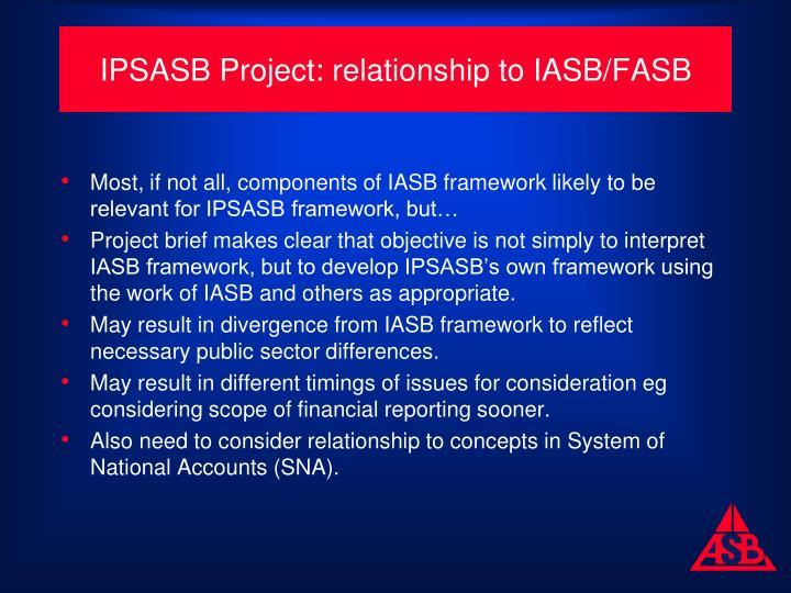 IPSASB Project: relationship to IASB/FASB