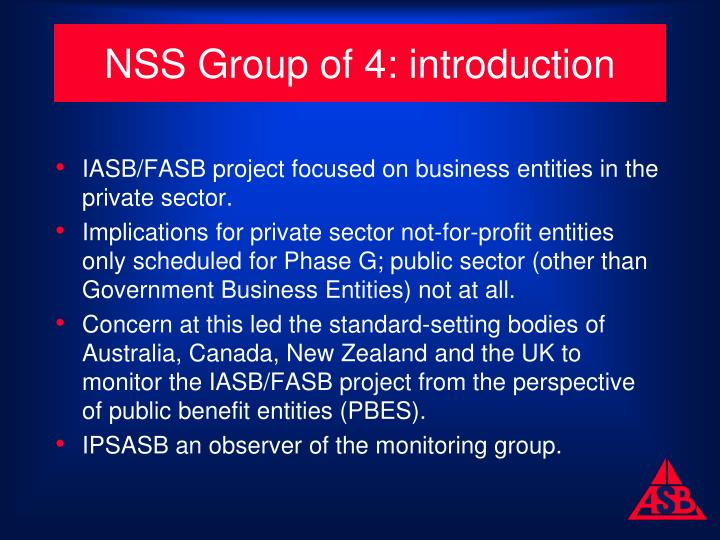 NSS Group of 4: introduction