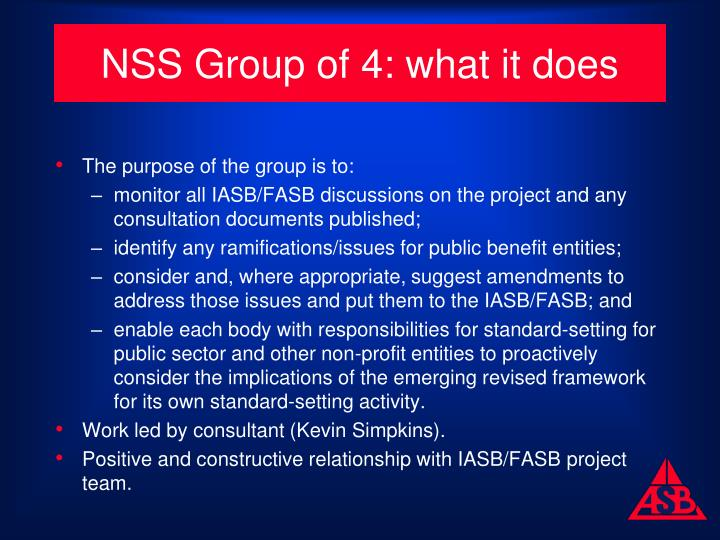 NSS Group of 4: what it does