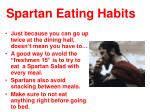 spartan eating habits