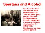 spartans and alcohol1