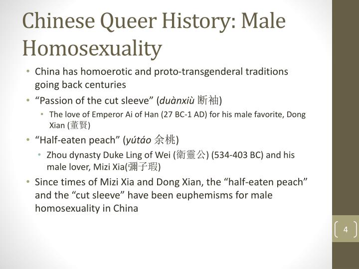 Chinese Queer History: Male Homosexuality