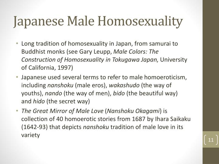 Japanese Male Homosexuality