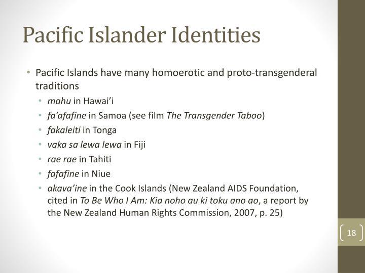 Pacific Islander Identities