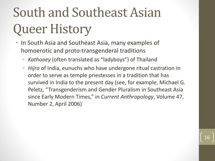 South and Southeast Asian Queer History