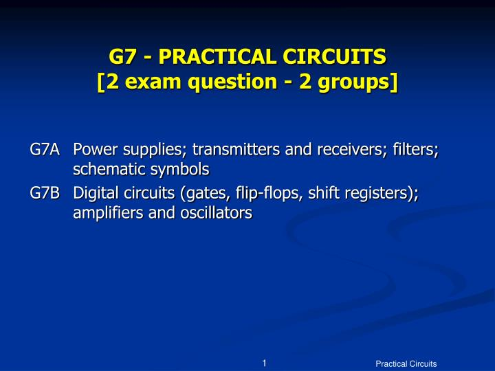 g7 practical circuits 2 exam question 2 groups n.
