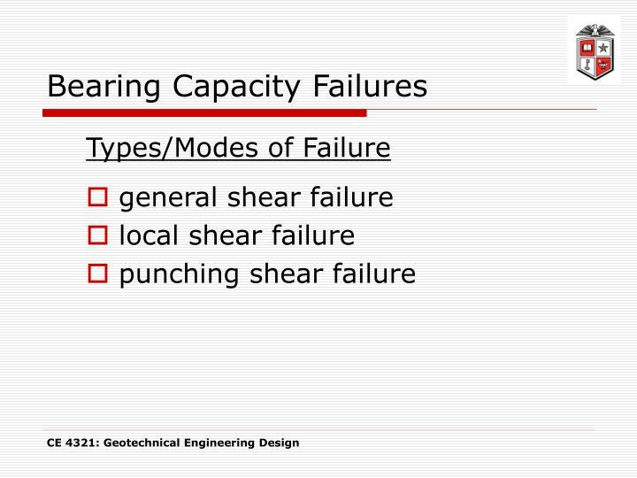 Bearing Capacity Failures