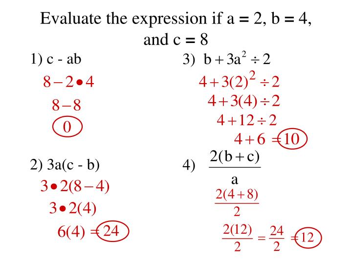 Ppt Objective To Simplify Expressions Using The Order