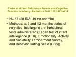 carter et al iron deficiency anemia and cognitive function in infancy pediatrics 2010 126 2427 e434
