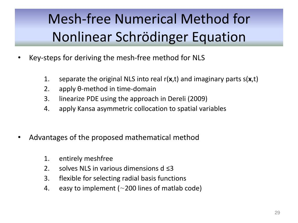 PPT - A Mesh-free Numerical Method for three-dimensional