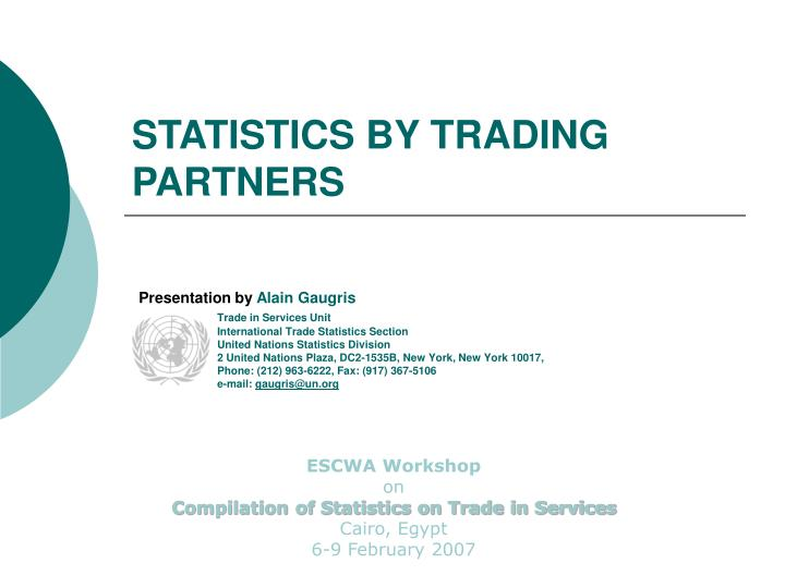 statistics by trading partners n.