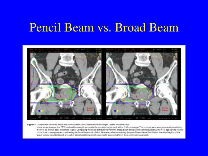 Pencil Beam vs. Broad Beam
