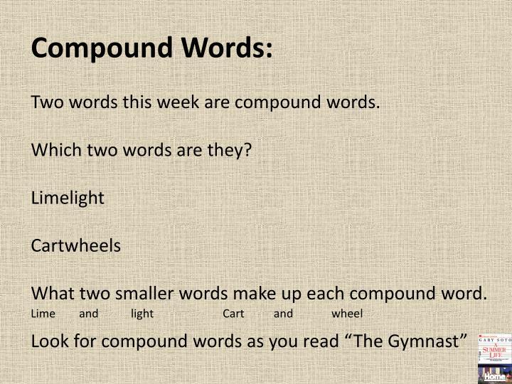 Compound Words: