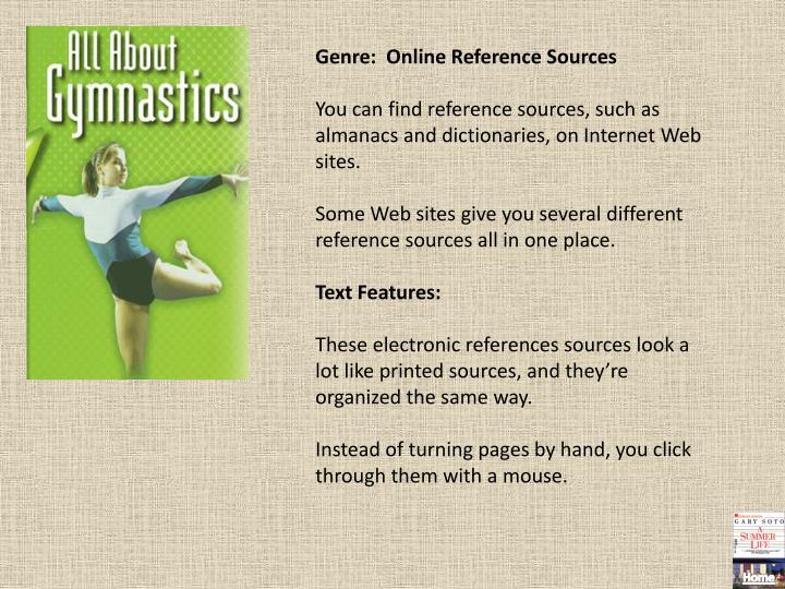 Genre:  Online Reference Sources