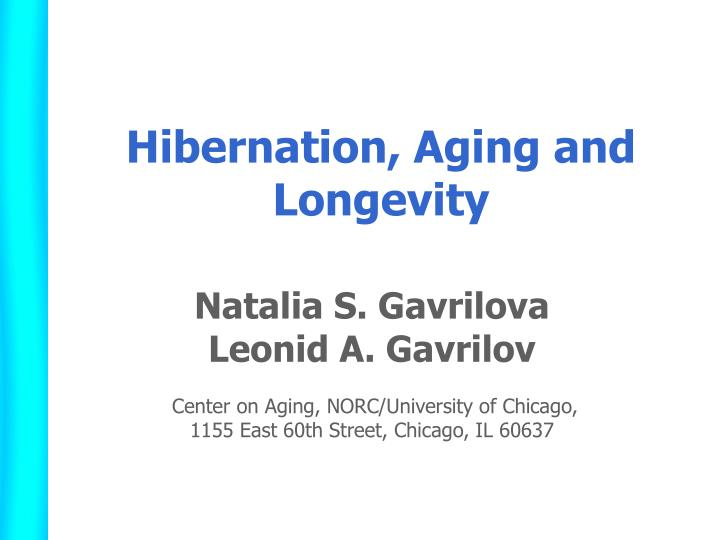 hibernation aging and longevity n.