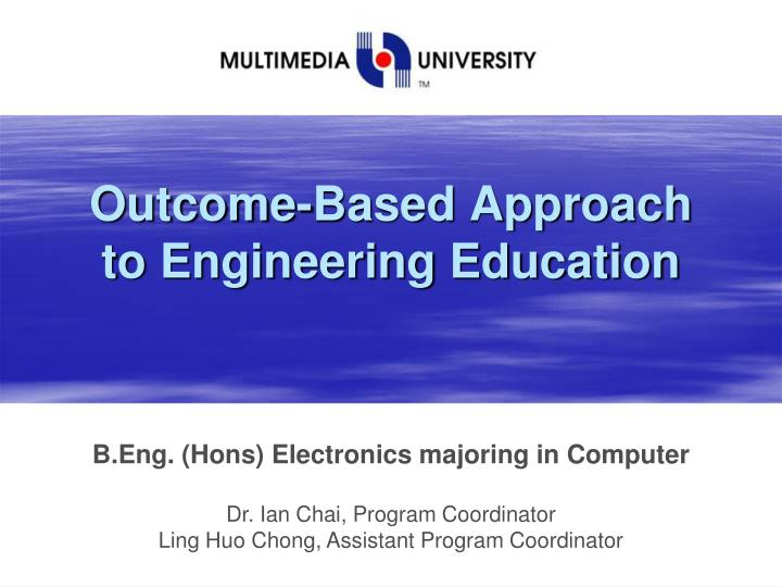 outcome based approach to engineering education n.