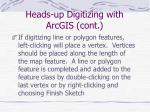 heads up digitizing with arcgis cont3