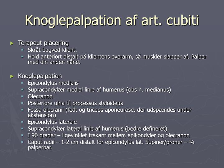 Knoglepalpation af art. cubiti