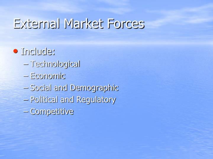 External Market Forces