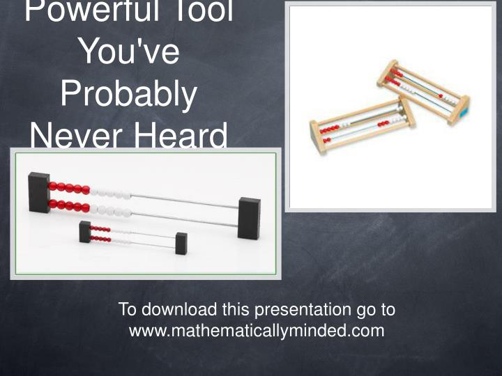 the most powerful tool you ve probably never heard of n.