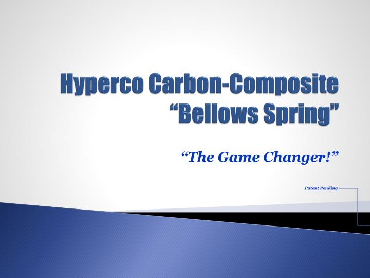 hyperco carbon composite bellows spring n.