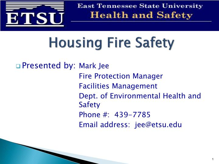 housing fire safety n.