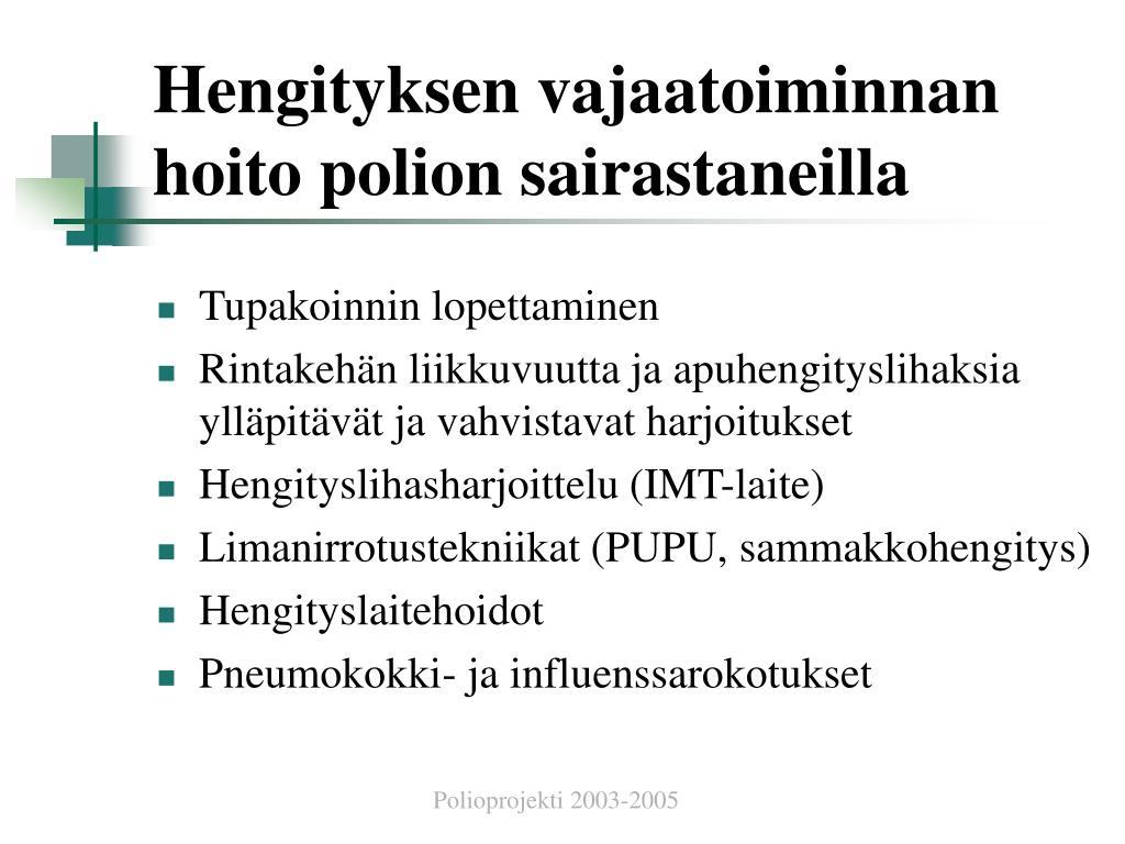 Polio Oireet