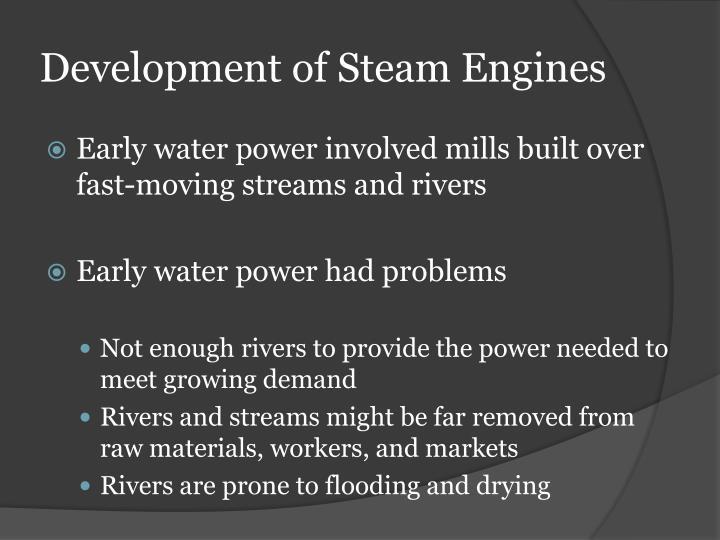 Development of Steam Engines