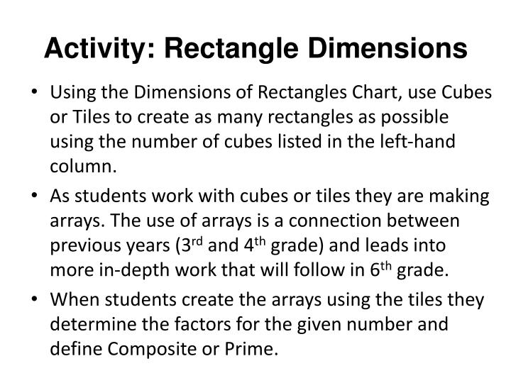 Activity: Rectangle Dimensions