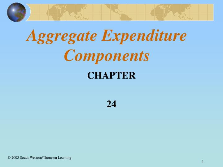 aggregate expenditure components n.