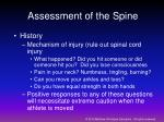 assessment of the spine
